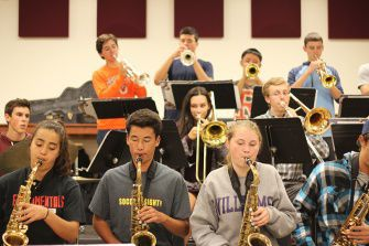 Jazz Band A rehearses for the upcoming Night of Swing, on Nov. 8.