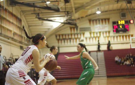 Girls' varsity basketball wins big against Drake