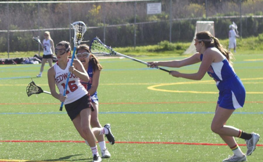 Girls' varsity lacrosse defeats Tam