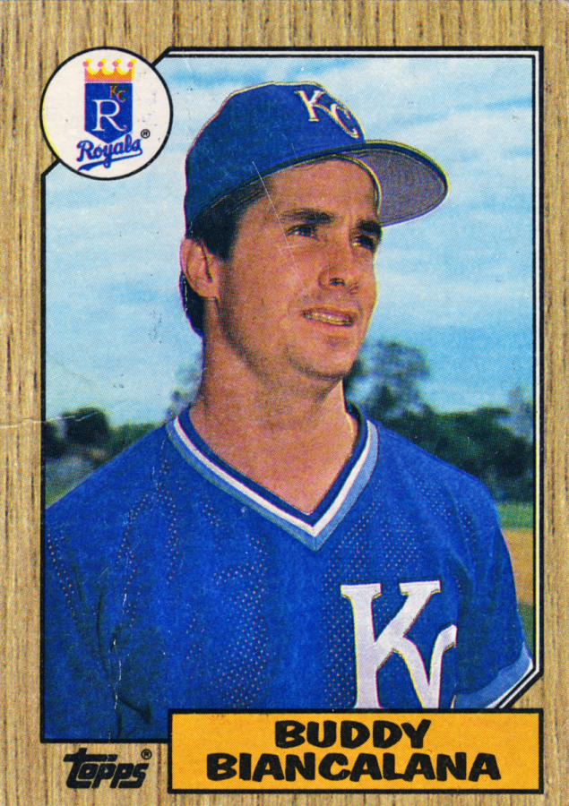 Buddy Biancalana's 1987 baseball card.
