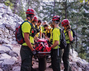Members of Marin Search and Rescue participate in a training program in Yosemite National Park.