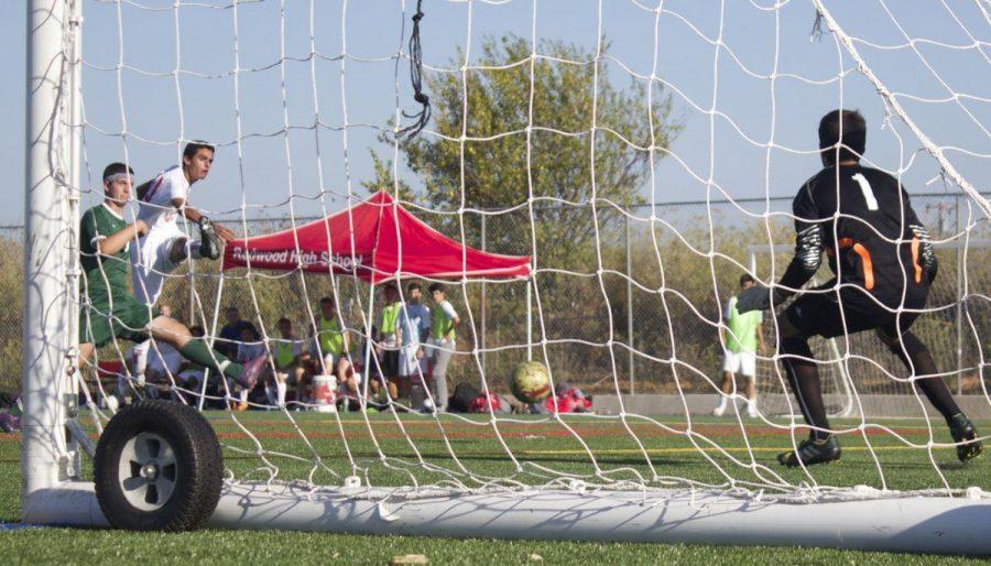 Captain Teymour Sadrieh attempts a score on goal.