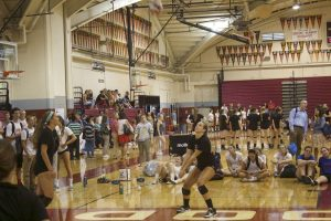 Senior Bailey Osborn passes the ball to her teammates.
