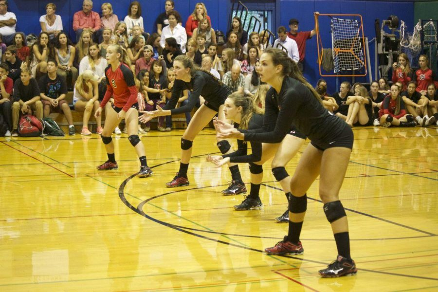 Girls' varsity volleyball loses to rival Branson