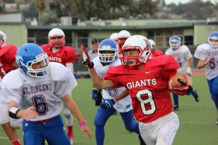 Defense leads the JV football team past St. Vincent De Paul