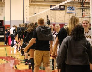 Redwood shakes their opponents hands, after the 3-0 win.