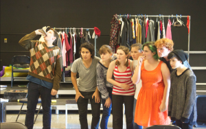 Advanced Drama students rehearse for their upcoming play, 'Museum', which opens Nov. 11.