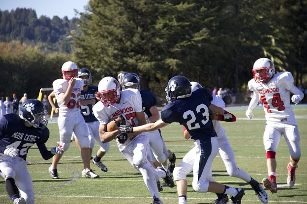 Gallery: Junior varsity football suffers a loss against Marin Catholic