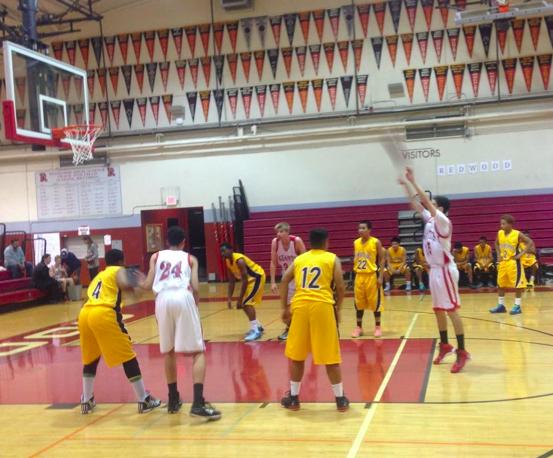 Boys' freshman basketball team battles for close defeat against Pinole Valley