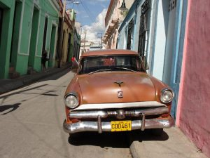 Due to the economic embargo, many of the cars in Cuba are older because citizens haven't been allowed to purchase them from other countries.