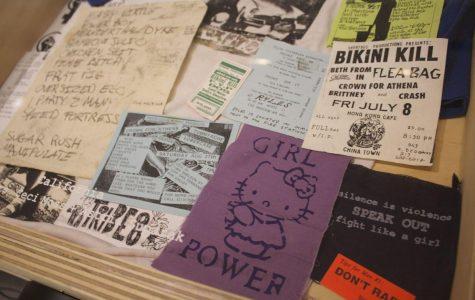 A collection of old Riot Grrl leaflets.