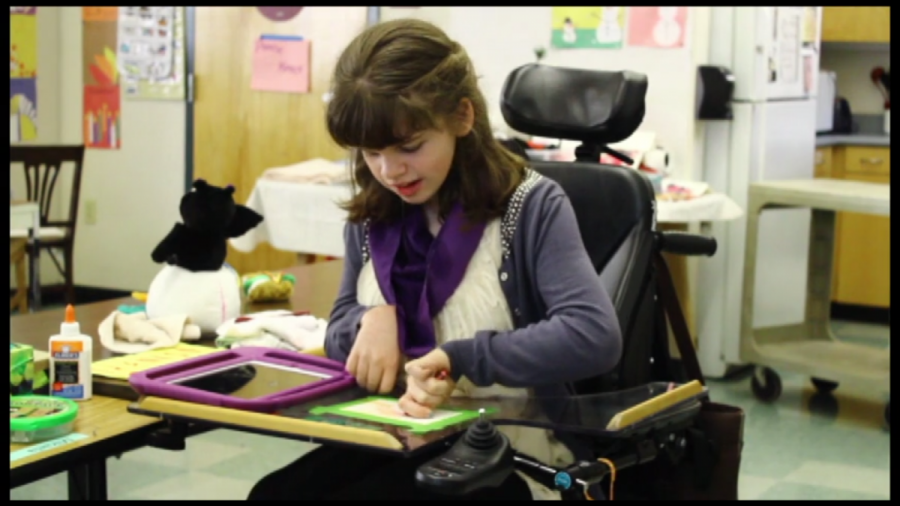 Junior overcomes disability with aid of technology