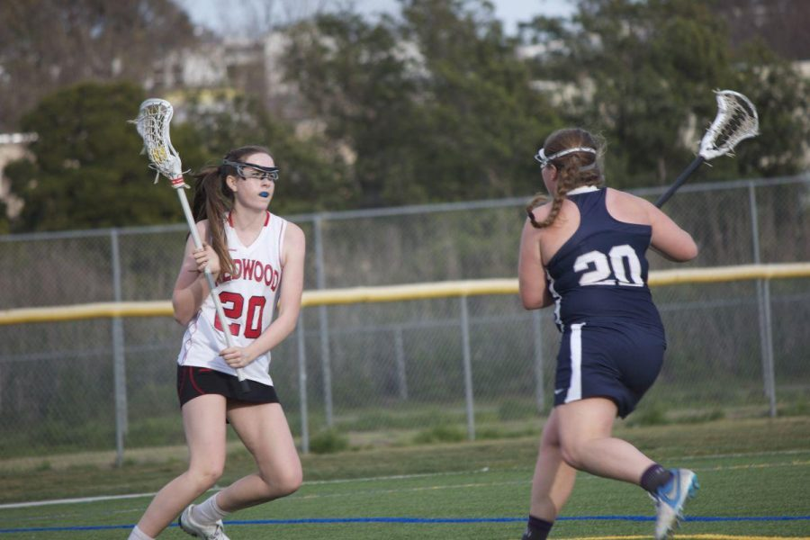 Freshman Caroline Watkins beats a defender during a scrimmage against Marin Catholic.