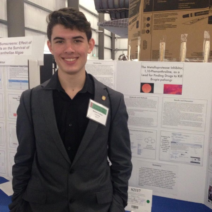 Junior awarded fourth place at international science fair