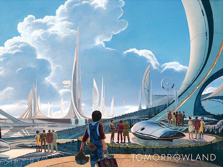 Set in a futuristic city, 'Tomorrowland' stars George Clooney and Britt Robertson and released on May 22.
