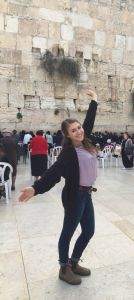 Pictured here at the Western Wall in Jerusalem, Israel, senior Marisa Robinow spent her second semester studying in Israel.