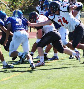 Junior Kyle Fulton scores the go-ahead touchdown in the third quarter.