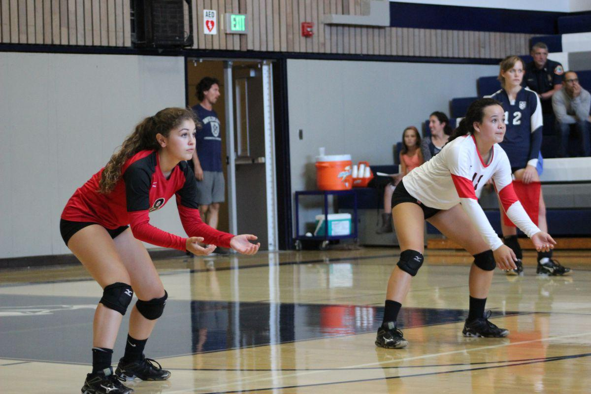 JV girls volleyball stays undefeated through first rivalry game