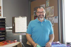 Douglas Dammarell, the new art teacher.
