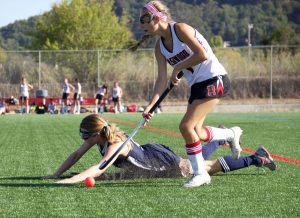 Senior Kaylee Bushell puts her technical skill on display while an MC player fails to match her pace.