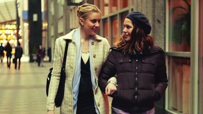 Greta Gerwig plays Brooke (left), the step-sister-to-be of Tracy, played by Lola Kirke (right).