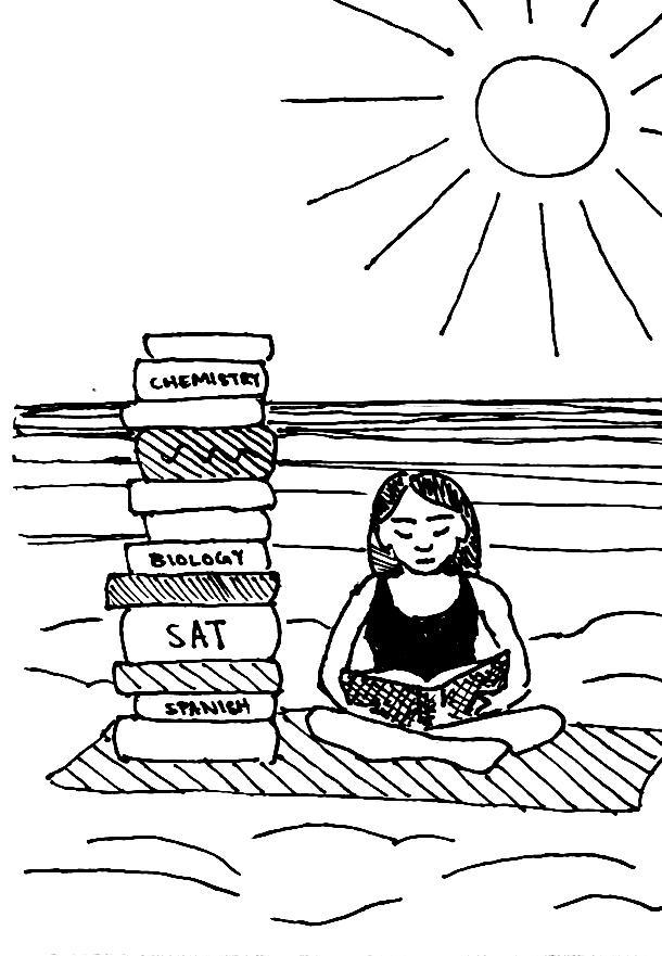 Summer sun overshadowed by school pressures