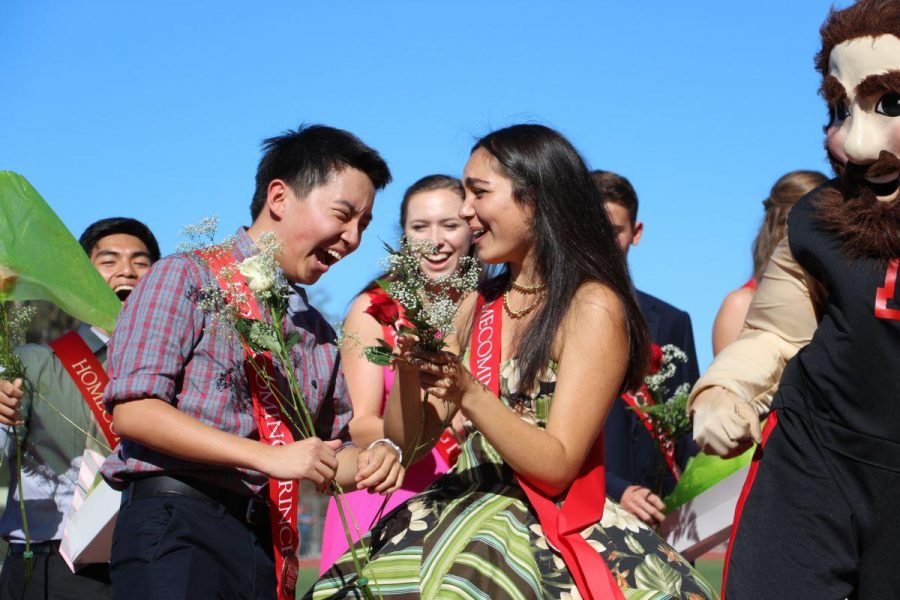 Kenneth Wong and Bella Vega are all smiles finding out they won homecoming king and queen