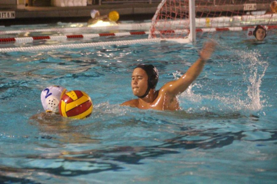 Parker Tang  blocking his opponent during the game Thursday