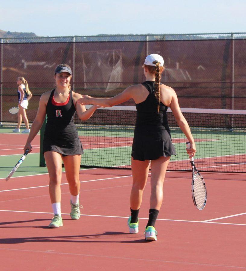 Gallery: Girls' Varsity tennis defeats Justin-Siena