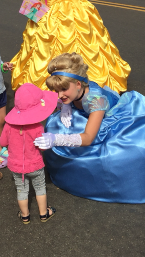 Claire Schulberg works as Cinderella for her job at Once Upon a Song.