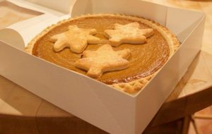 BECKMANN'S PUMPKIN PIES, baked in Santa Cruz, come with three leaf-shaped sugar cookies on top and costs $19.99 per pie. It was ranked as the best pie overall, while Safeway was ranked as the worst.