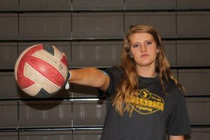 Senior Marguerite Spaethling recently commited to Colorado College, a Division III school, for volleyball.