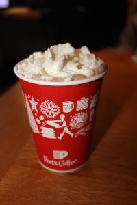 Although seemingly delicious from afar, the taste of Peet's hot chocolate is unpleasant.