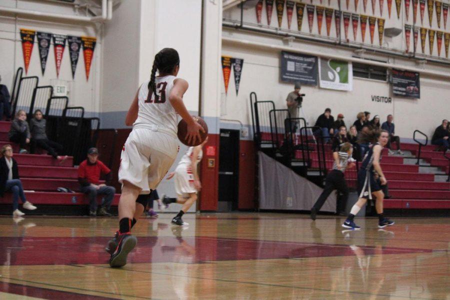 Girls' varsity basketball cruises past Marin Catholic