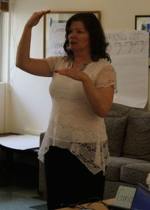 Instructor Gina Ehlert teaches students how to work with people who have bipolar disorder.