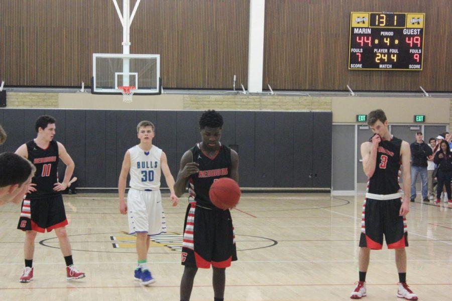 Junior+Jordan+Jackson+takes+the+free+throw+line.+
