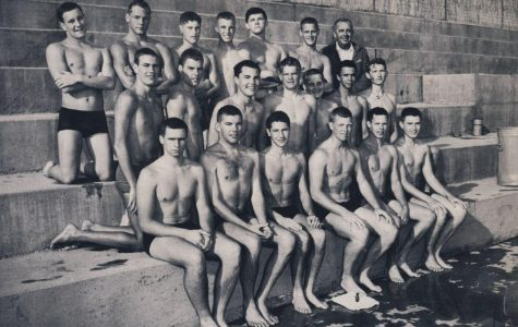 Recently recognized for being the first Redwood varsity sports team to ever win a league championship, the 1959 Redwood varsity boys' swim team reunited for a Hall of Fame banquet on March 5.