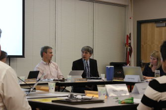 The board asks questions following the budget presentation.
