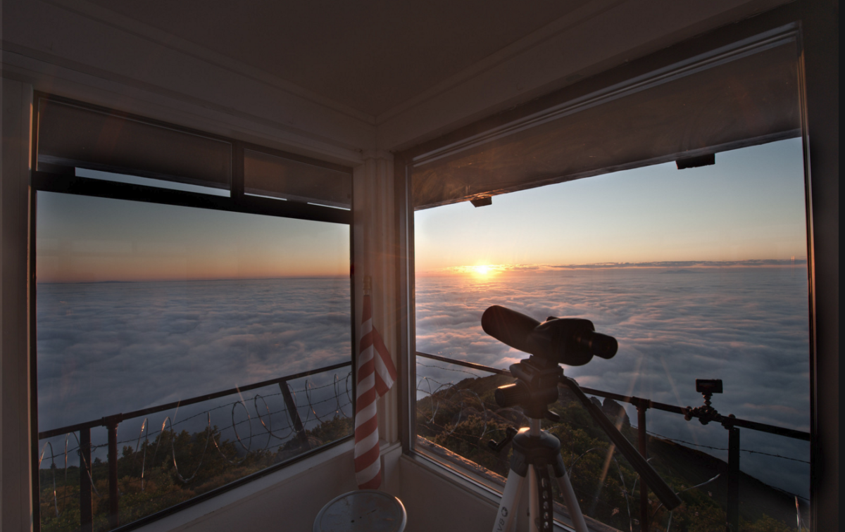 Facing East, the Gardner lookout gives its volunteers a view of the sunrise