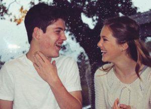 Sophomore Kali Gibbs laughs alongside her younger brother, Kaden Gibbs.