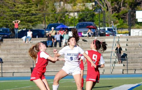 Girls' varsity soccer falls short in first MCAL game