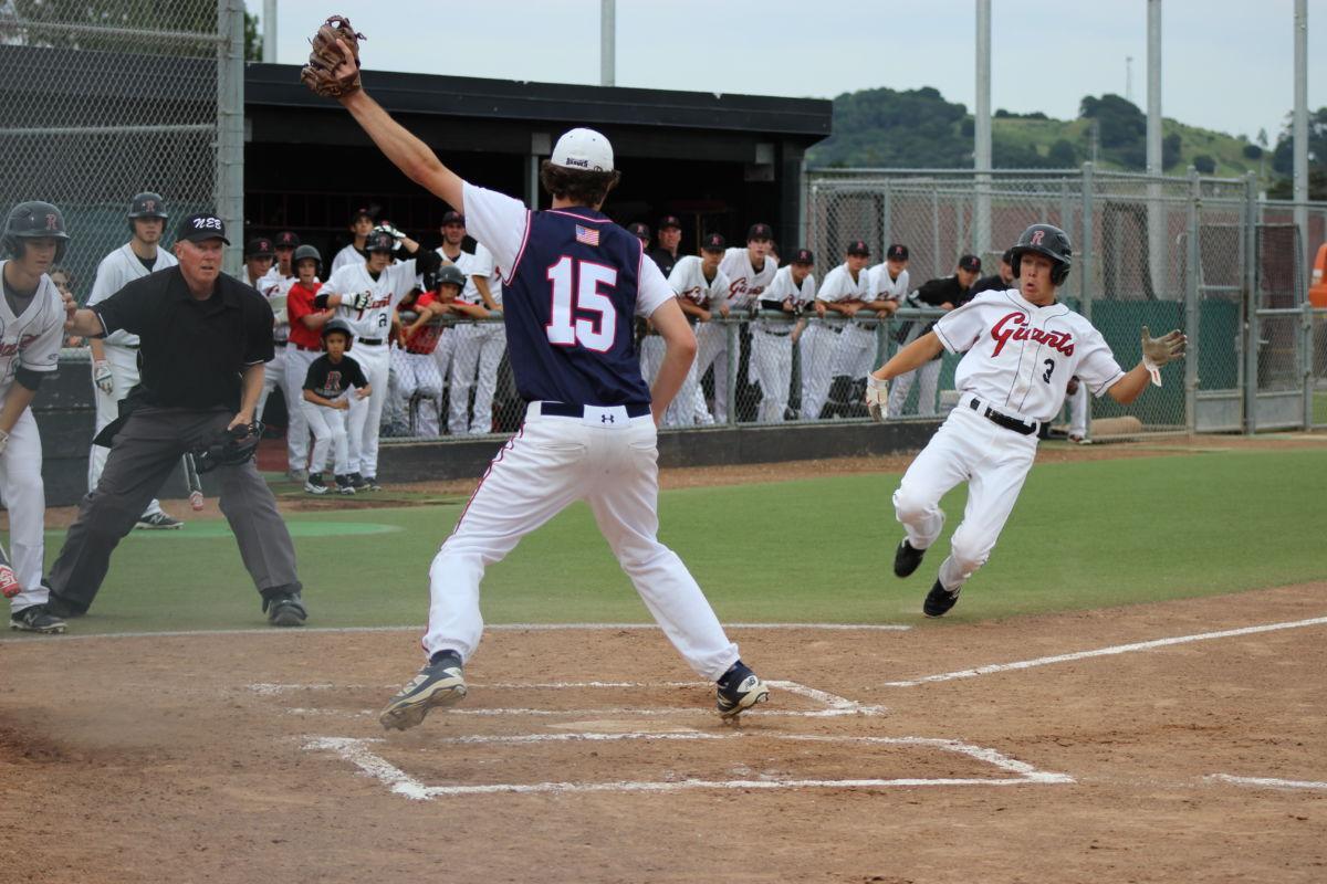 Redwood varsity baseball steals win from Justin Siena 2-0