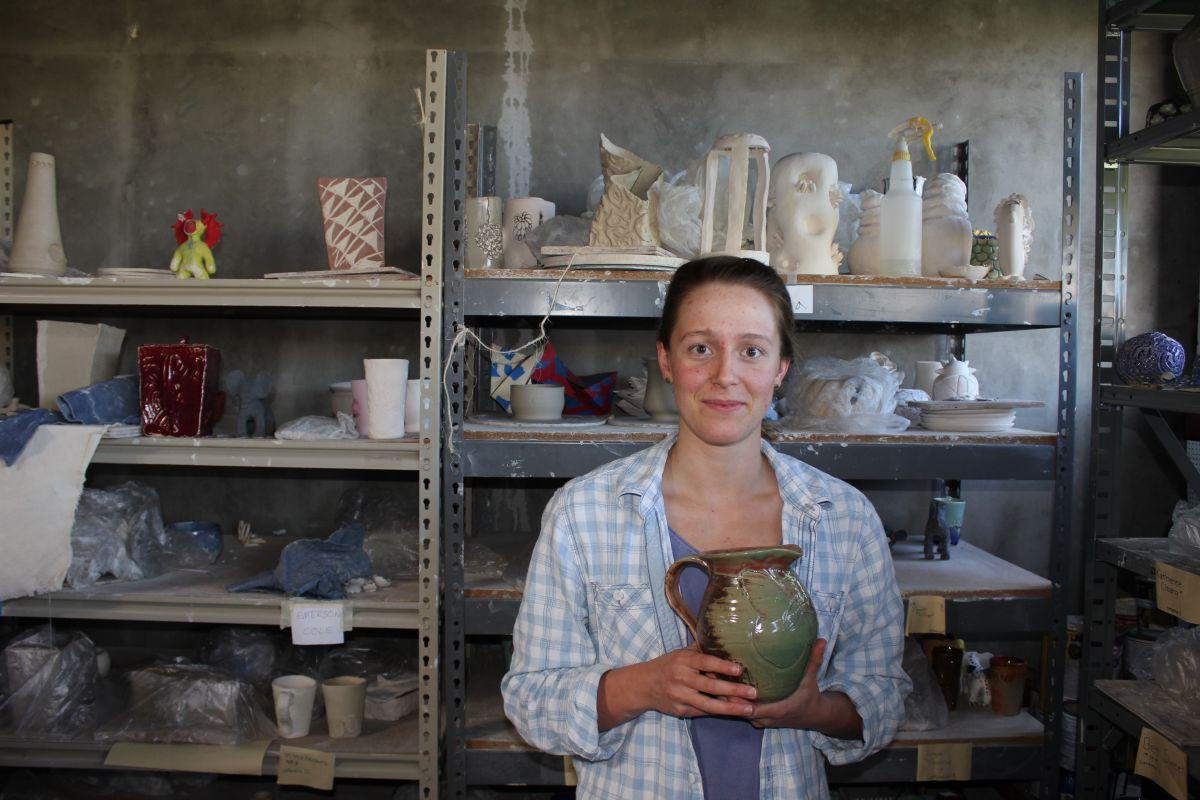Junior aspires to open online business selling pottery