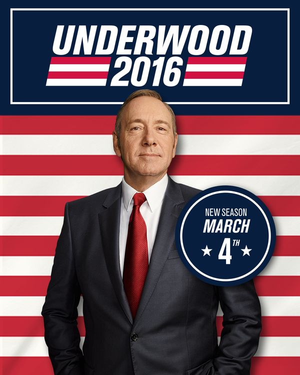No breaks on the insane train of the new House of Cards