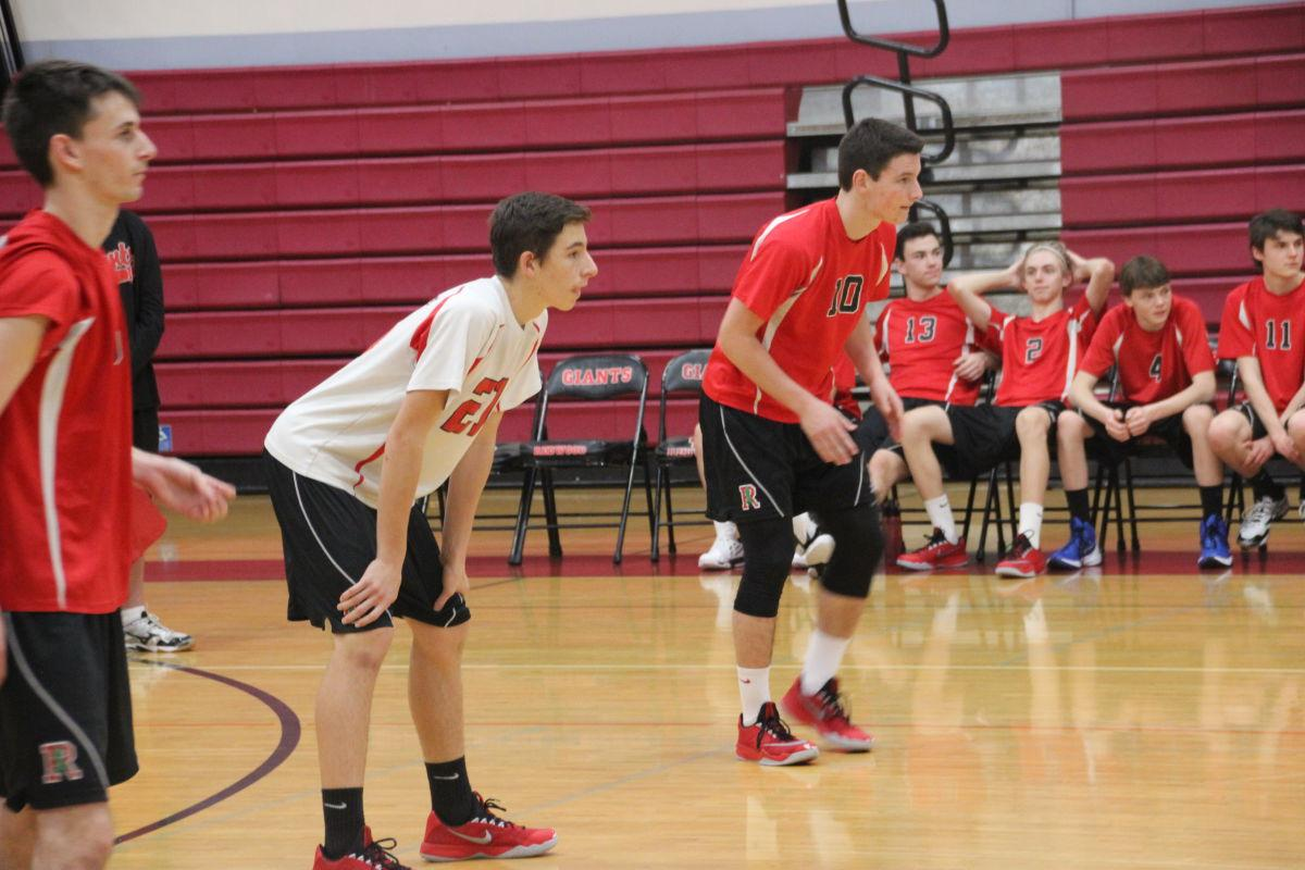 Lupario and Winters prepare to receive the serve. The two's relationship has been crucial to the success of the team.