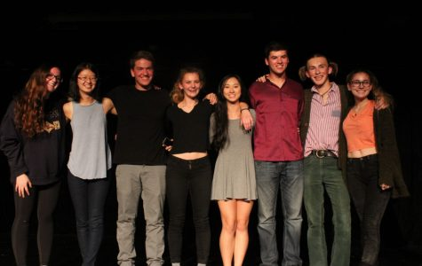Clinching the Tri-School poetry slam competition for the seventh consecutive year, Redwood's team finished off the night with a group poem about moving beyond clichés in poetry.