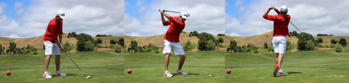 Winding back for a successful drive, Laub attributes his success to his stroke