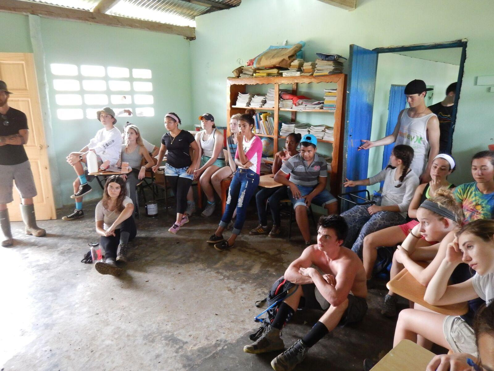 Zadoff and other volunteers visit a school in Panama