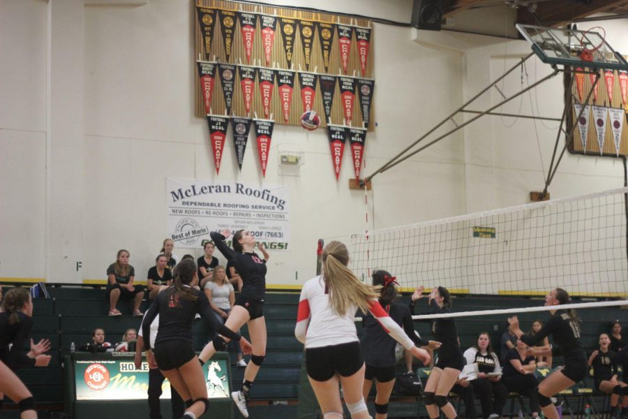 Senior Claire Jackson swings for another kill