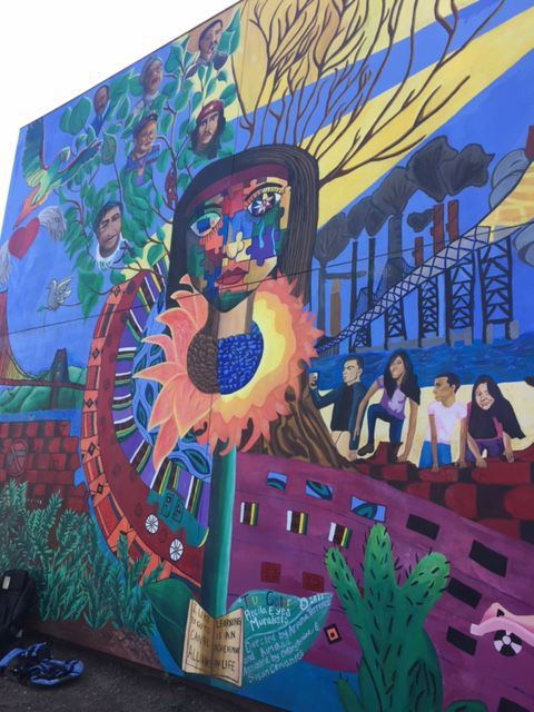 THE OUTSIDE WALL of Canal Alliance, an organization that helps immigrants living in Marin.